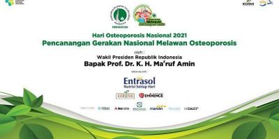 Wapres Ma'ruf Amin Akan Resmikan Pencanangan Gerakan Melawan Osteoporosis Nasional 2021